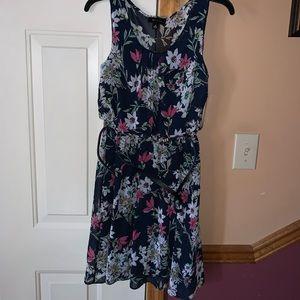 NWT Flower Dress (Includes Waist Belt)